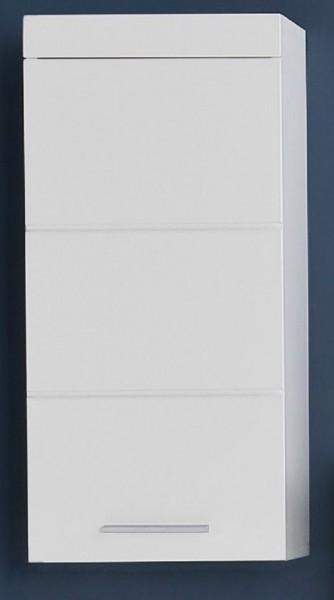"Hängeschrank L ""Egedal"", Schrank Badezimmer HG Weiss Tiefziefolie MDF FSC 70% 37x77x23cm"