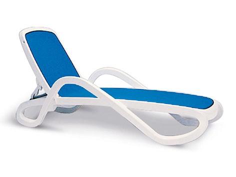"""Stapelliege """"Blake"""" weiß/blau 71x194x30cm Relaxliege Gartenliege"""