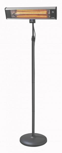 """Terrassenheizstrahler Heizstrahler """"Quick Line 2"""", 1800 Watt, 42x64x189cm, schwarz/silber, Outdoor"""