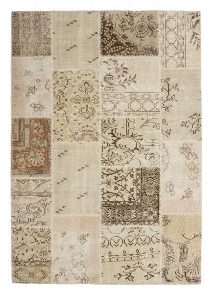 "Beauty.Scouts Wollteppich ""Vintage Casa"", beige, handgeknüpft 80x150cm, 120x170 cm, 160x230 cm, 200x290 cm"