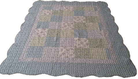 "Beauty.Scouts Patchworkdecke Tagesdecke Plaid ""Aruba Rose"" 155x180 cm"