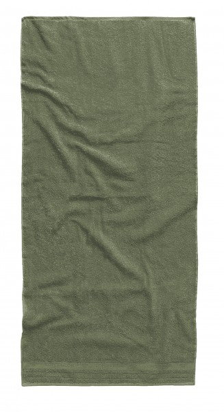 """Tom Tailor Duschtuch Uni Basic Towels """"Olive Star"""", olive, 70 x 140 cm"""