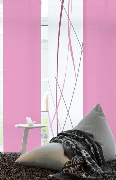 """Designer Flächenvorhang Schiebevorhang """"Linien Premium"""" Pastell rose"""