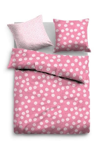 "Tom Tailor Linon Bettwäsche ""Big Dot Pink"", pink"