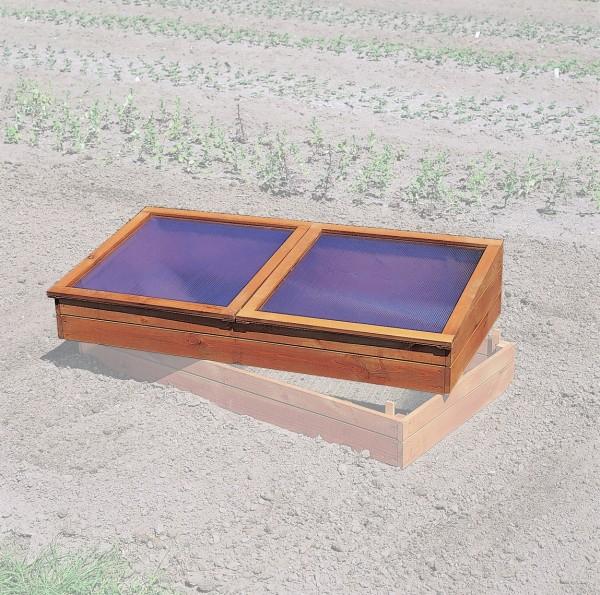 """Frühbeet """"Ina"""", Kiefer, 140 x 70 x 19/28 cm, Gartenbeet, Anzuchtbeet, Gartenfrühbeet, Garten"""