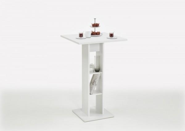 """Bar-/Stehtisch XL """"Frederike"""" weiß 70x109x70cm Säulentisch Tisch"""