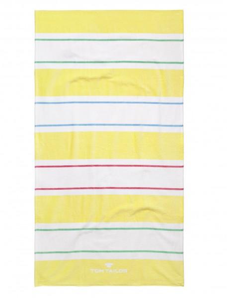 """Tom Tailor Strandtuch """"Manja"""", 85 x 160 cm, gelb, Badetuch, Duschtuch, Badezimmer, Strand"""