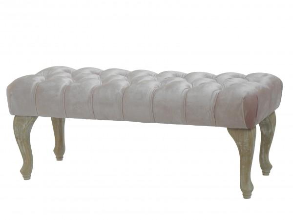 "BAROCK DESIGN POLSTERBANK ""CHARLOTTE II"" | 100 cm, rosafarben | nostalgische Sitzbank"
