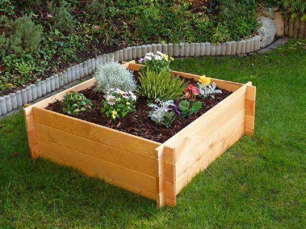 """Erhöhtes Pflanzbeet """"Arni"""", Kiefer, honigbraun, 100 x 100 x 33,5 cm, Gartenhochbeet, Garten"""