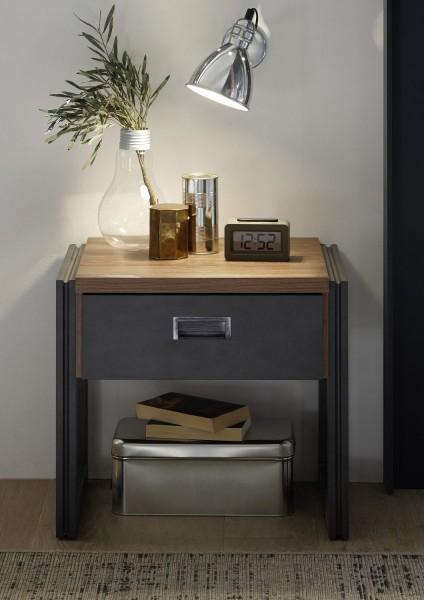 """Nachttisch, Nachtkonsole """"Java"""" Stirling Oak Nachbildung, 55x48x45 cm"""