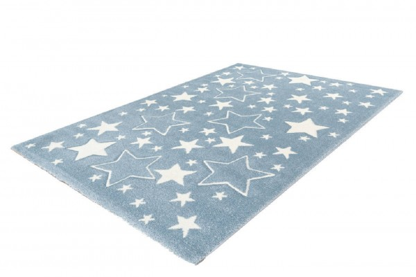 """Kinderteppich """"Leon"""" blau 80x150cm 120x170cm Teppich Kurzflorteppich Spielteppich"""