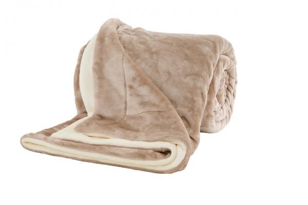 "s.Oliver Uni Double Soft- Wohndecke ""Nudes"" beige 150x200 cm"