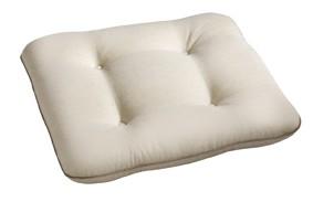 """Polsterauflage Sesselauflage Stuhlauflage """"Bianca Beige"""" eckig 48x48x9cm"""
