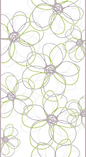 """pop.up Panel """"Daisy"""" Grau,Grün und Weiß, Tapete selbstklebend"""