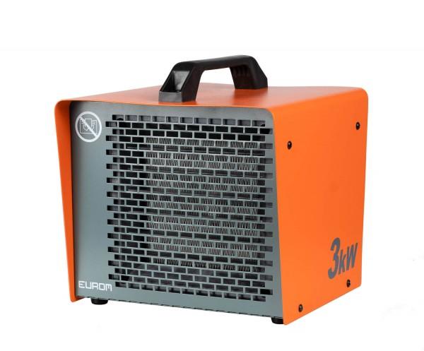 """Werkstattheizung """"Aili"""" orange/grau 24x24x25cm 3000W elektrische Heizung Garagenheizung"""
