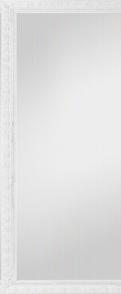 """Beauty.Scouts Rahmenspiegel """"Margaux III"""", Spiegel Klarglas weiss Verzierungen  Aufhänger 46x111cm"""