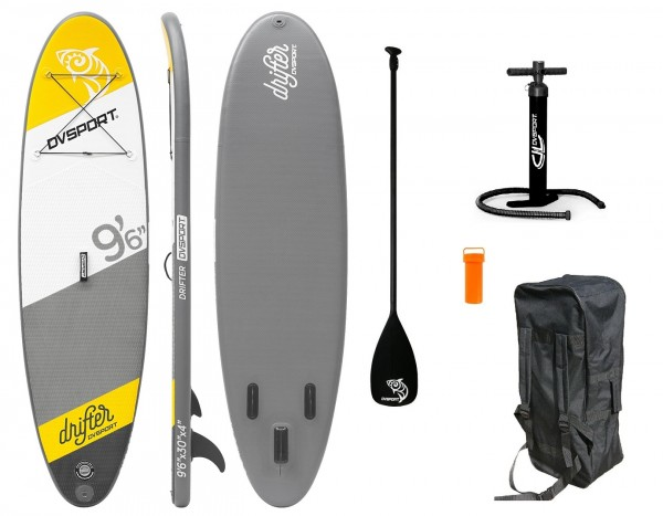 "Stand-Up-Paddle ""Adventure Sport No.4"" gelb grau 290x75x10cm SUP Paddling"