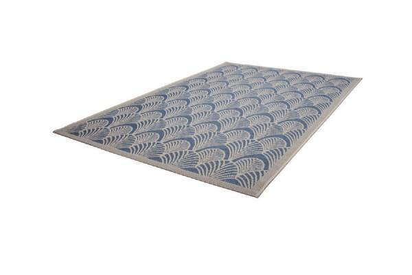 """Beauty.Scouts In- und Outdoorteppich """"Sea Shell"""" blau/elfenbein, 5 mm, Flachflor, wetterfest, 80x150cm, 1"""