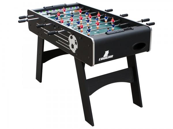 """Fußballtisch """"Pele"""" aus Holz in schwarz 126x61x81cm Tischfussball Kicker"""