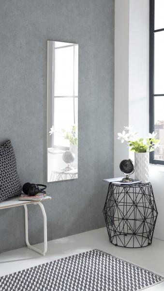 """Spiegel """"Anka 3"""", weiß, 33 x 125 x 2 cm, ohne Rand, große Spiegelfläche"""