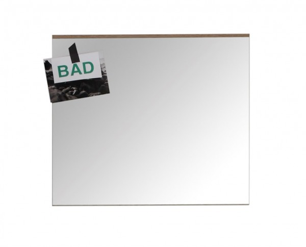 "Wandspiegel ""Alma"", Eiche San Remo hell NB, Badezimmerspiegel, 60 x 55 x 2 cm"