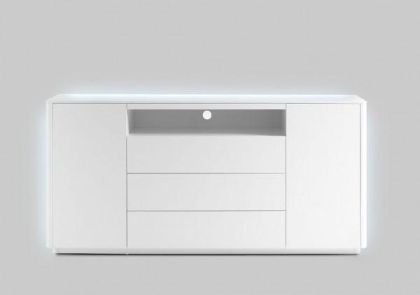 """Sideboard """"Blance"""" matt weiss, 180x87x41 cm inkl. LED Beleuchtung weiß"""