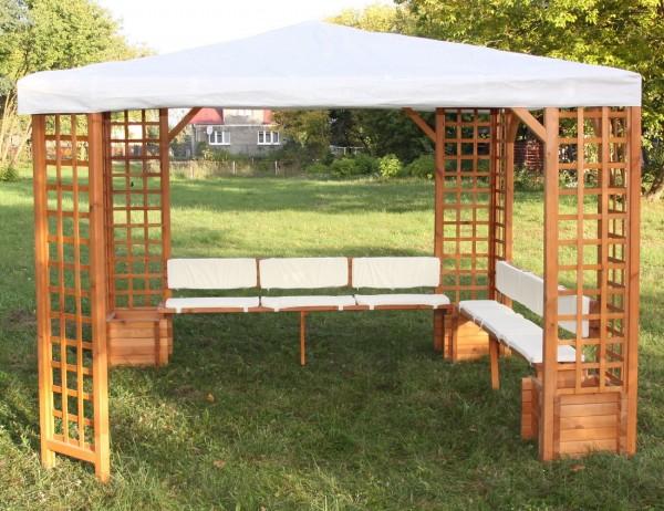 """Sitz- und Rückenauflagen """"Irene"""", für Pavillon, beige, Auflagen, Möbelauflagen, Garten"""