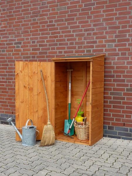 """Geräteschrank """"Lara"""", Kiefer, honigbraun, 72,5 x 68,5 x 148cm, Gartenschrank, Outdoorschrank, Garten"""