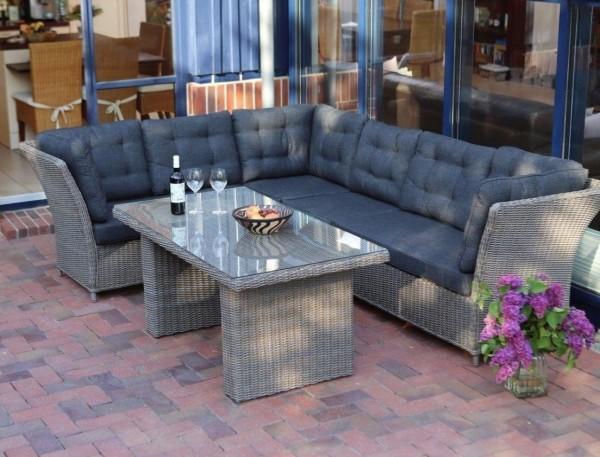 """Lounge """"Auckland"""" Gartenmöbel mit Polster inkl. Sofa Tisch Loungemöbel Loungesofa"""