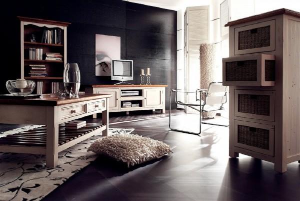 Wohnzimmer Set, Set, Riviera, Beauty.Scouts, Kiefer recycelt, Komplettset
