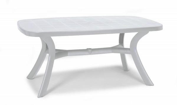 Beauty.Scouts Gartentisch Tisch Esstisch Marina oval mit abdeckbaren Schirmloch blau 145 x 95 cm
