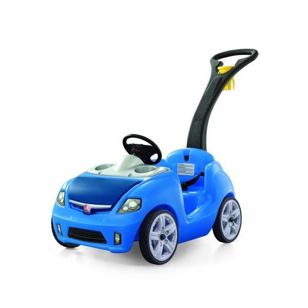 """Kinderauto """"Medira"""" in blau mit Schiebegriff aus Kunststoff 115,6x48,3x86,4cm"""