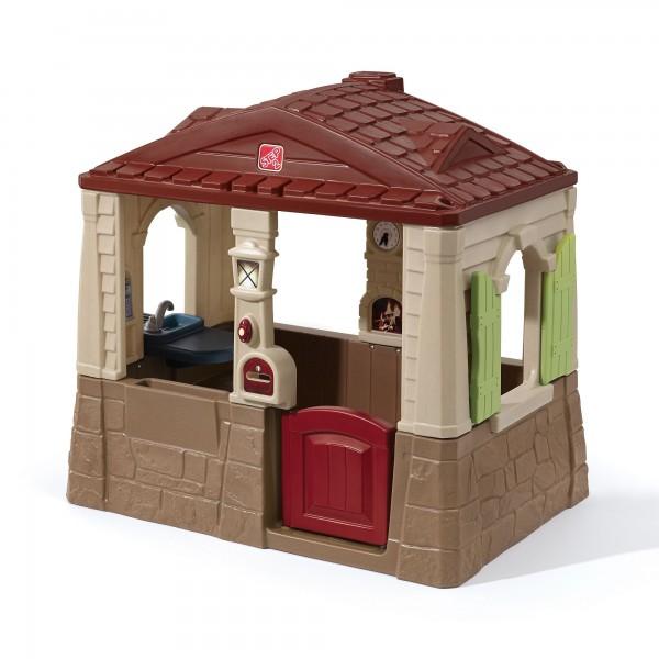 """Kinderspielhaus """"Noa 2"""" aus Kunststoff 88,9x129,5x118,1cm braun"""