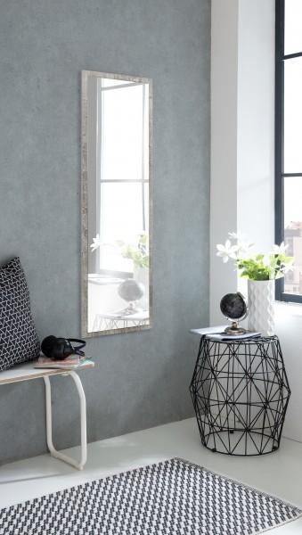 """Spiegel """"Izzy 1"""", Beton, 38 x 130 x 2 cm, mit Rand, Spiegelfläche 125 x 33 cm"""
