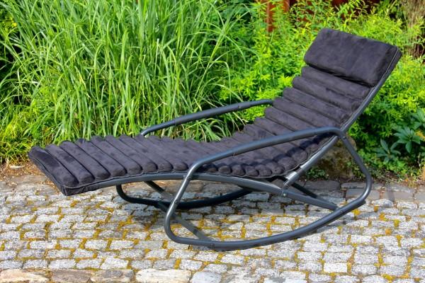 """Bäderliege Schaukelsessel """"Comfort"""" inklusive Polsterauflage schwarz silber"""