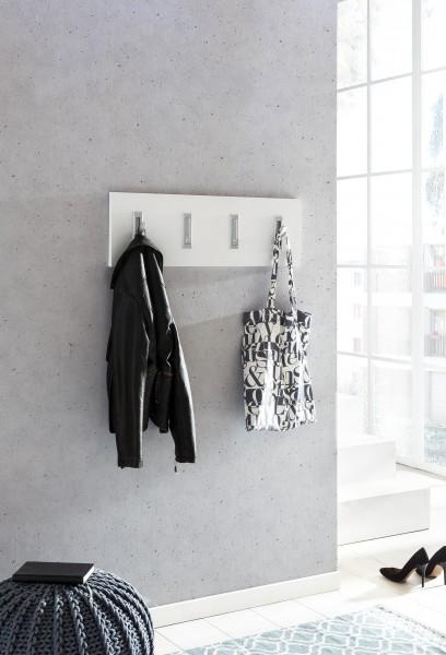 """Garderobenpaneel """"Lilo 2"""", weiß, 4 Garderobenhaken, 80 x 26 x 2,2 cm"""