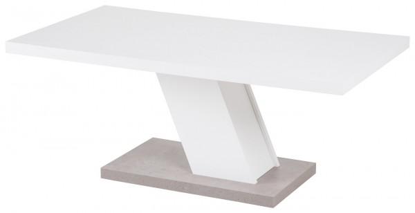 """Couchtisch """"Lilli"""" weiß Betonoptik 110x60x45cm Tisch Kaffeetisch Sofatisch"""