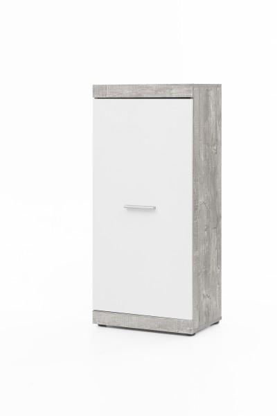 """Anstellschrank """"Amandus"""", beton/weiß, 50 x 114,5 x 32,5 cm, Wohnzimmer, Wohnzimmerschrank, Schrank"""