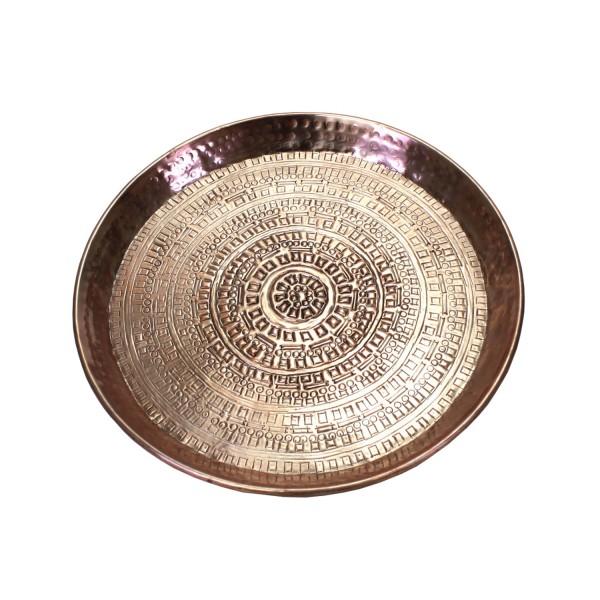"Tablett ""Toujours"" Aluminium Rose Metall 38cm Durchmesser"