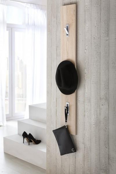 """Garderobenpaneel, Garderobenhaken """"Style"""" Dekor Eiche Sonoma Garderobenleiste Garderobe Diele"""