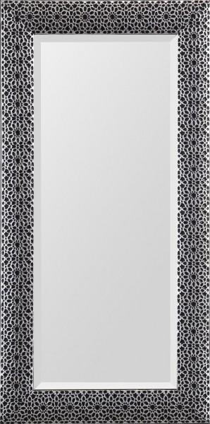 """Rahmenspiegel """"Leila"""" schwarz silber 75 x 150 cm Wandspiegel Spiegel Wanddekoration"""