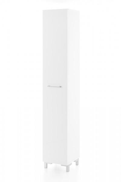 """Hochschrank """"Toni"""", weiß / weiß Hochglanz, 1 Tür, 5 Fächer, 30 x 178 x 31,5 cm"""