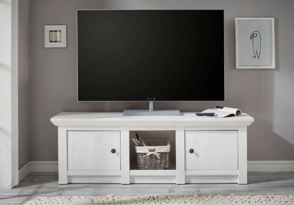 """TV-Lowboard """"Feres"""" - in Pinie Weiss Nachbildung 152x51x45cm"""