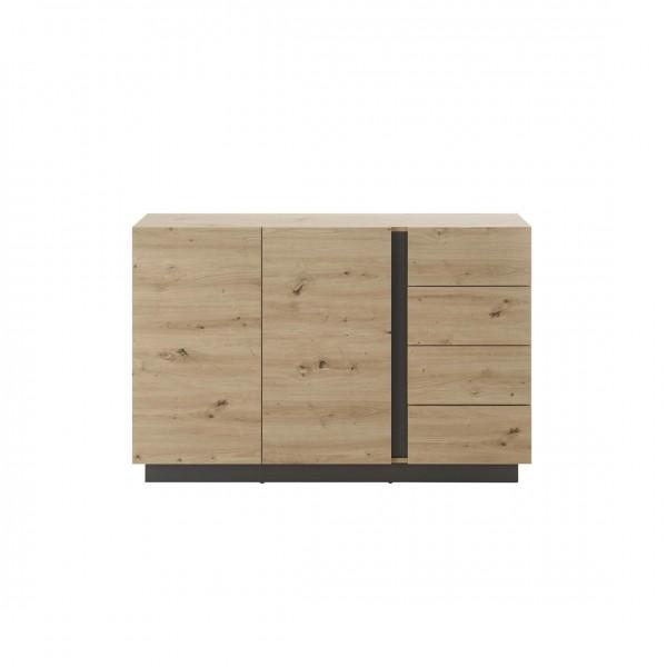 """Sideboard """"Helene"""" Eiche Artisan Dekor 2-Türen 4xSchubkästen 138x91x40cm Wohnzimmerschrank"""