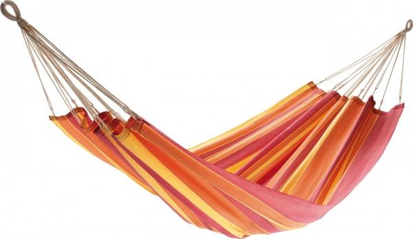 """Tuchhängematte """"Ibiza I"""" Jobek Hängematte belastbar 120kg orange/rot 140x200 cm"""