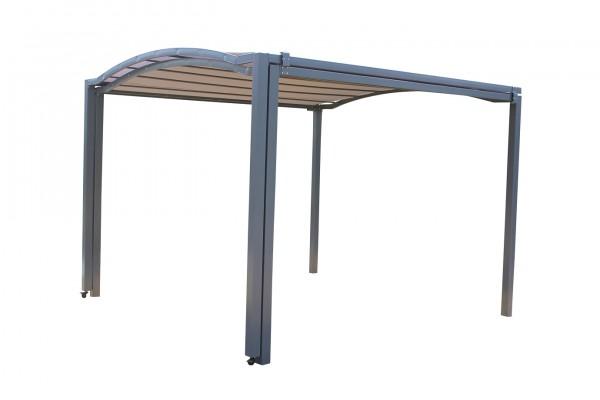 "Pergola ""Madita"" anthrazit grau Polyester 303x233x295-570cm Sonnendach Überdachung"