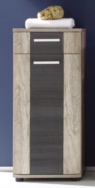 "Schrank ""Patricia"", 40 x 90 x 32 cm, Eiche Monument Oak/Touchwood, Badezimmerschrank, Badezimmer"