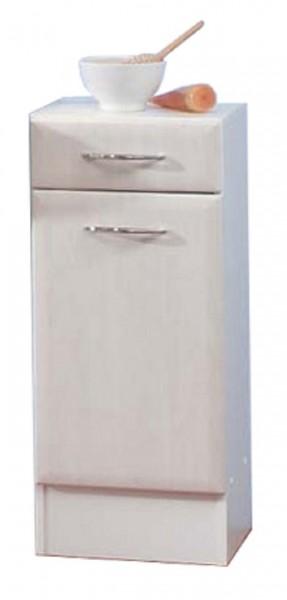 """Unterschrank """"Jerome"""", weiß/Ahorn grau, 76,5 x 32,5 x 30,5 cm, Badschrank, Badezimmerschrank"""