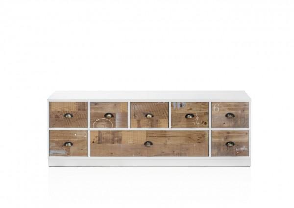 Lowboard, TV-Schrank, Wohnzimmer, vintage, Bourbon I, Beauty.Scouts, Weiß, old fashioned, Schrank, Anrichte , Schrank, (3)