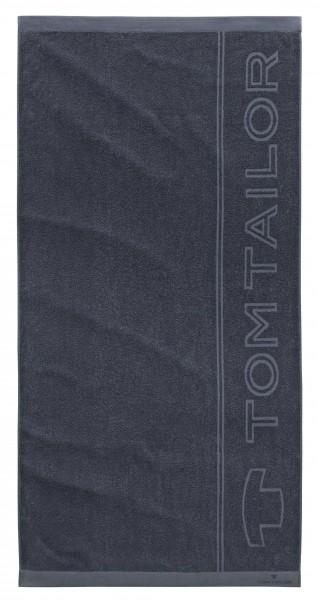 "Tom Tailor Beach Towel Strandtuch ""Tom Tailor Logo Star"", 90x180cm, dark grey"